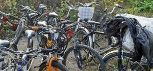 Çalıntı 33 bisiklet polis ekiplerince bulundu