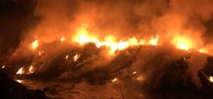 Geri dönüşüm fabrikasında 2 gün sonra yine yangın çıktı 8 itfaiye aracı 25 personel yangına müdahale etti