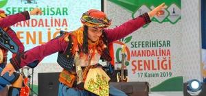 Seferihisar'daki turuncu festivale binlerce kişi katıldı Seferihisar Mandalina Şenliğine ev sahipliği yaptı