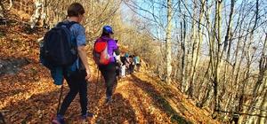 Ordulu dağcılar doğa yürüyüşünde