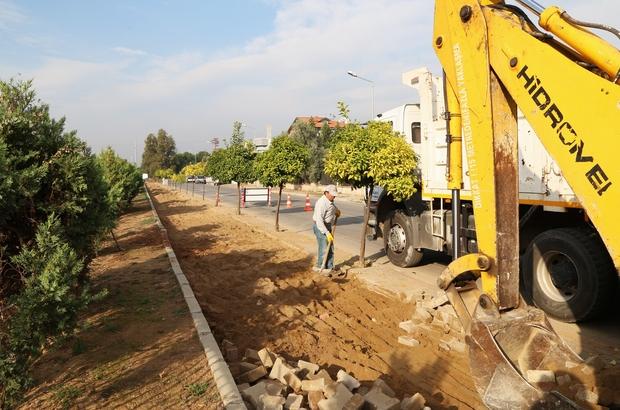 Efeler'de bisiklet yolu yapımına başlandı