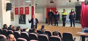 Köprüköy'de sürücülere eğitim semineri verildi