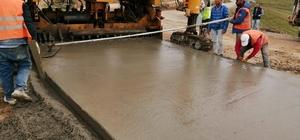Yaylada havaalanı kalitesinde beton yol yapıldı