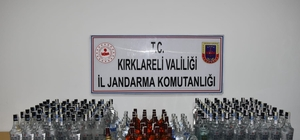 Kırklareli'de 193 litre kaçak içki ele geçirildi