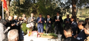 Öğretmen adaylarından Aydın'ın ilk şehit öğretmenine ziyaret