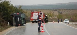 Tekirdağ'da minibüs devrildi: 5 yaralı