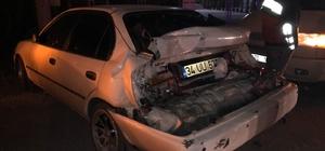 D100 karayolunda kamyon otomobile arkadan çarptı: 4 yaralı