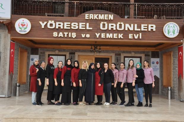 Afyonkarahisarlı kadınlardan Türkiye'ye örnek olacak proje 41 kadın bir araya geldi Hanımeller Konağı'nı açtı Afyonkarahisar'ın yöresel lezzetlerini beğeniye sunuluyorlar Elde edilen gelir ihtiyaç sahibi kadınlar ve öğrencilere bağışlanıyor, konakta 27 kadın istihdam ediliyor