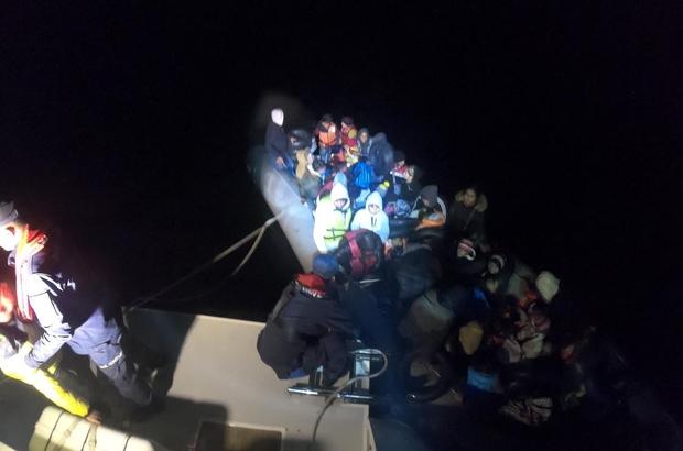 Didim'de 57 düzensiz göçmen yakalandı