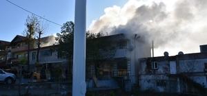 Kereste deposunda yangın