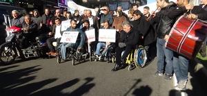 Diyarbakır'da engellilerden davullu zurnalı farkındalık yürüyüşü