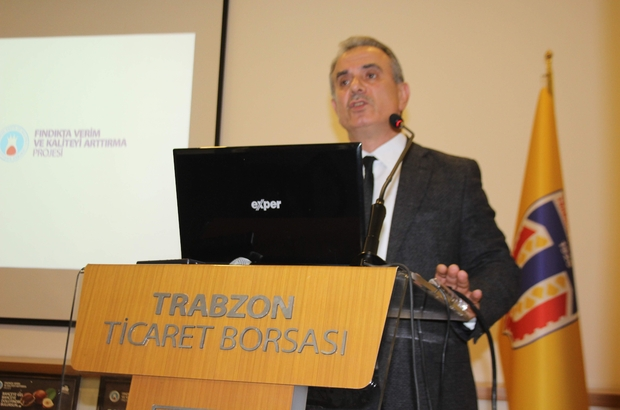 """Fındıkta Verim ve Kaliteyi Artırma Projesi TTB Yönetim Kurulu Başkanı Eyyüp Ergan: """"Bu tür çalışmalarımızı üreticilerimize ulaştırdığım zaman Trabzon'da belki de yılda 100 milyon ton fındık üretebiliriz"""""""