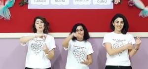 İşaret dili kursiyerlerinden farkındalık videosu