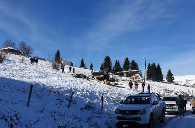 Trabzon'da 160 kaçak yapının yıkımı yapıldı Kar yağışına rağmen yıkım çalışmaları sürdürülüyor