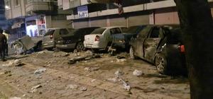 Kontrolden çıkan otomobil park halinde araçlara çarptı Direksiyon hakimiyetini kaybolan otomobil önce çöp konteynırına, sonra trafoya ardından da park halindeki arabalara çarptı