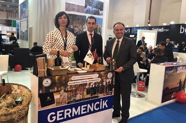 """İNYA, Travel Turkey İzmir Fuarı'nda ilgi odağı oldu Germencik Belediye Başkanı Fuat Öndeş: """"İNYA üreticimizin emeği ve Germencik'imizin zenginliğidir"""""""
