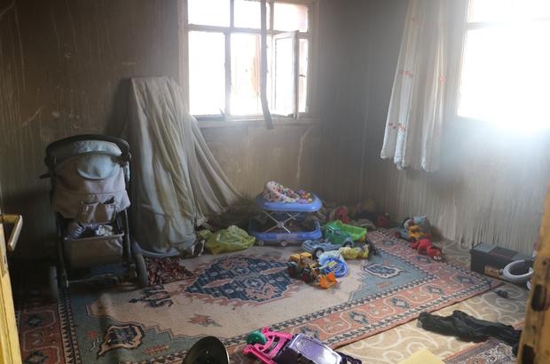 Sivas'ta 10 kişilik yabancı uyruklu ailenin yaşadığı ev yandı