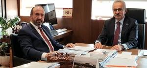 Kavuncu, Karayolları Genel Müdürü Uraloğlu ile bir araya geldi