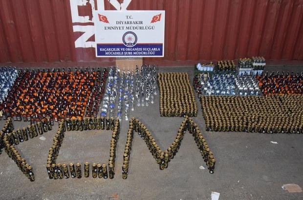 Diyarbakır'da yılbaşı öncesi kaçak içki operasyonu Düzenlenen operasyonda 500 bin lira değerinde kaçak içki ele geçirildi