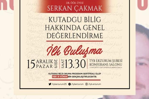 TYB Erzurum Şubesi'nde Kutadgu Bilig dersleri başlıyor