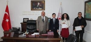 Kaymakam Erdoğan öğretmenlere başarı belgesi taktim etti