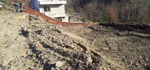 Kastamonu'da heyelanda bir ev hasar gördü