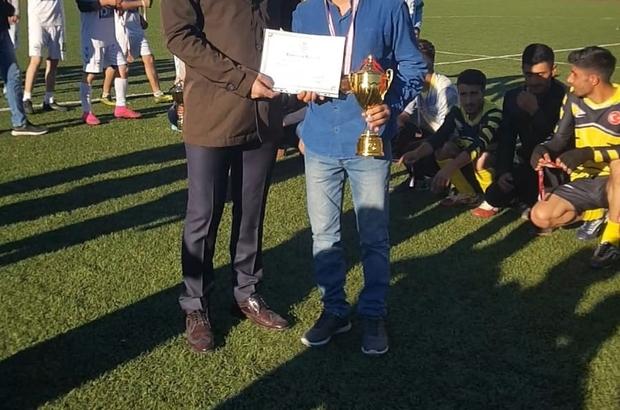 Çınar'daki futbol turnuvası sona erdi