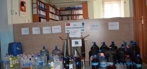Uşak'ta kaçak alkol operasyonunda 4 gözaltı