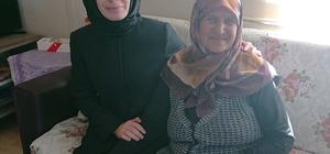 Kaymakam Baytak'tan yangında evini kaybeden kadına ziyaret