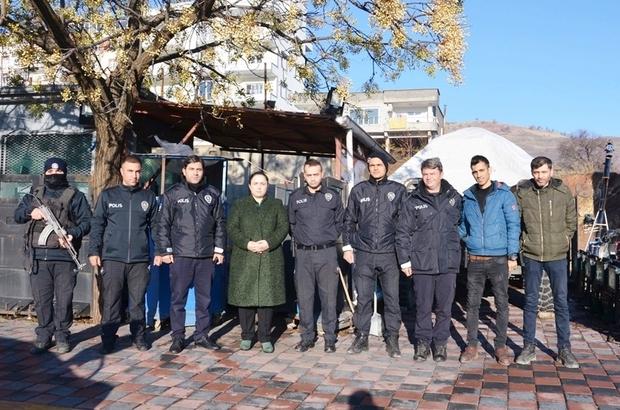 Kaymakam Demir'den polis uygulama noktasına ziyaret