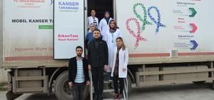 Günyüzü'nde KETEM tarafından meme kanseri taraması yapıldı