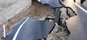 Adana'da karayolu çöktü 6 ilçenin Adana ile bağlantısını sağlayan karayolu göçük nedeniyle tek taraflı trafiğe kapatıldı