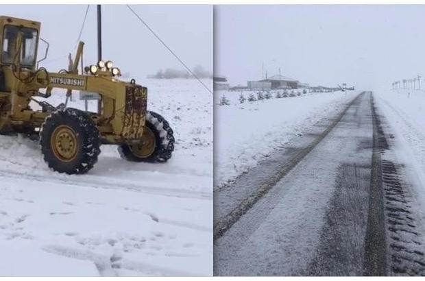 Kırşehir'de, karla mücadele çalışmaları