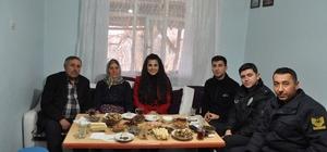 Kaymakam Karataş'tan gazilere ziyaret