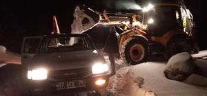 Antalya'da karda mahsur kalan vatandaşlar kurtarıldı Antalya'da karla mücadele