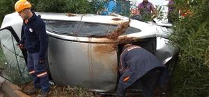 Otomobilde sıkışan şahsı AFAD kurtardı