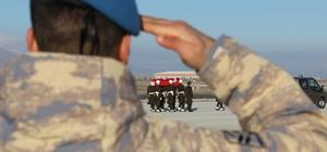 Şehit Kaya'nın cenazesi Erzurum'a getirildi