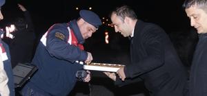 Kaymakam Mehmetbeyoğlu'ndan güvenlik güçlerine yeni yıl ziyareti