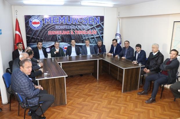 """Ulaştırma Memur-Sen Genel Başkanı Kenan Çalışkan Zonguldak'ta """"Zonguldak; demir yolları açısından çok önemli bir kenttir"""""""