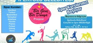 """İpekyolu Belediyesinden """"Bir Genç Bir Dünya"""" spor kursları"""