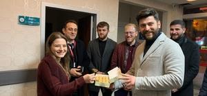 Trabzon'da doktorlara moral ziyareti