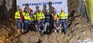 Narlıdere Metrosunda üçüncü istasyona ulaşıldı Fahrettin Altay - Narlıdere metro hattı inşaatında tünel açma makinesi üçüncü istasyona ulaştı.