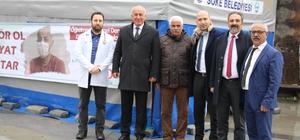Başkan Tuncel'den kan bağışı kampanyasına destek