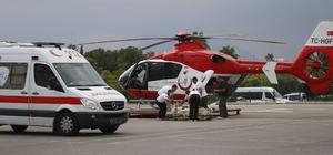 Hava ambulansları hayata bağladı Antalya'da 2019 yılında hava ambulansları ile 183, toplamda ise 130 bin 917 vakaya müdahale edildiği bildirildi