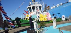 """Türk denizciliğinde bir ilk AVD teknolojili hidrolik hibrit römorker Boğaçay hizmete girdi Ulaştırma ve Altyapı Bakanımız Mehmet Cahit Turhan törene katıldı """"Türk sahipli deniz ticaret filomuz 2003 yılına göre 3 katın üzerinde büyüdü"""" """"Gemi inşa sanayimizin şaha kalktı"""""""