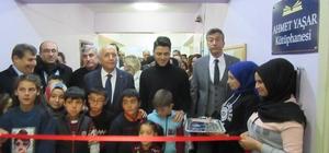 Yenimahalle Belediye Başkanı Fethi Yaşar'ın torunu memleketindeki köy okuluna kütüphane kurdu
