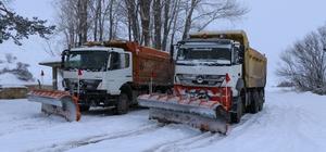 Erzincan kent merkezi kara hasret kalırken ilçelerde 37 köy yolu ulaşıma kapandı