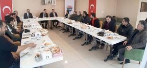 Vali Mustafa Masatlı, basın mensuplarıyla bir araya geldi