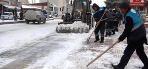 Erciş'te kar yağışı