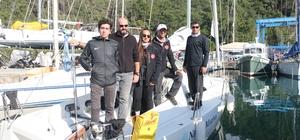 Denizde tek engelleri rüzgarsız hava Engelli yelkenciler gösterdikleri performansla takdir topladı